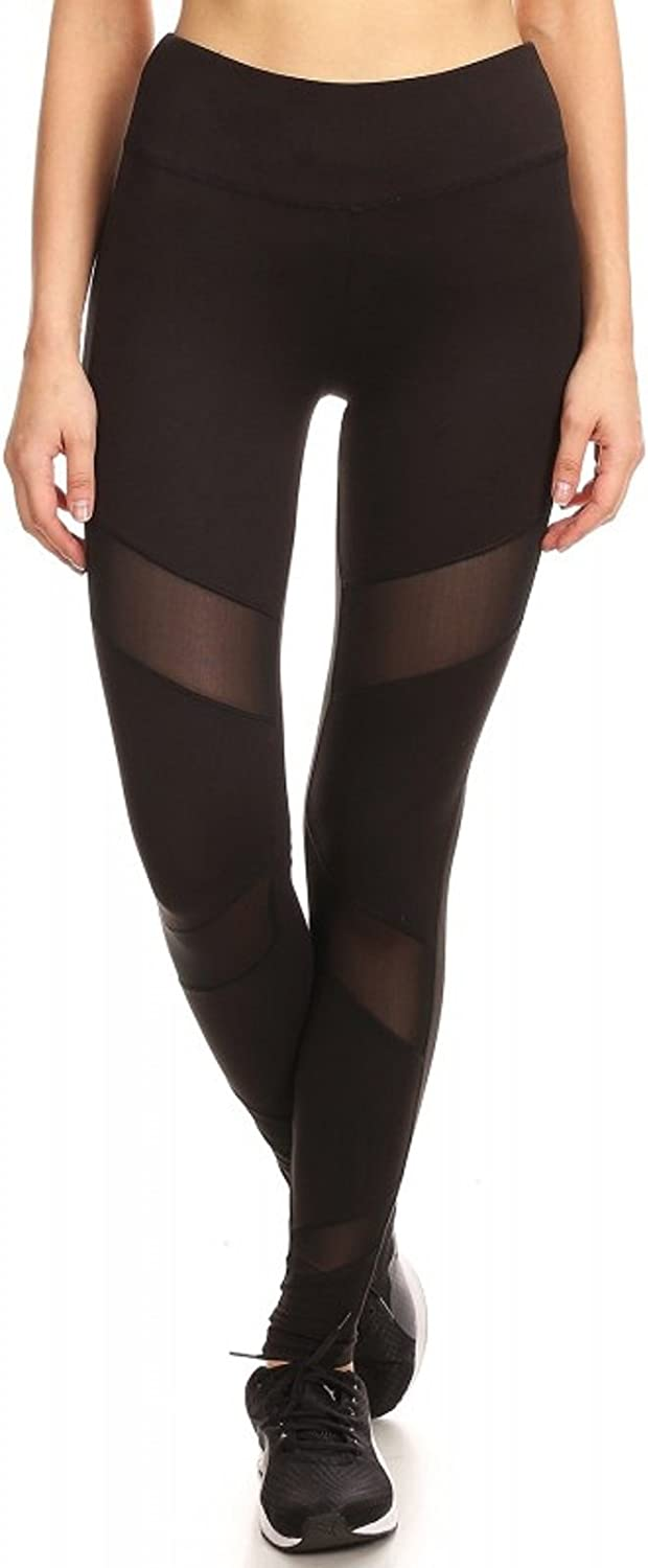 Pink Mint Sport Legging with Front MESH Panels