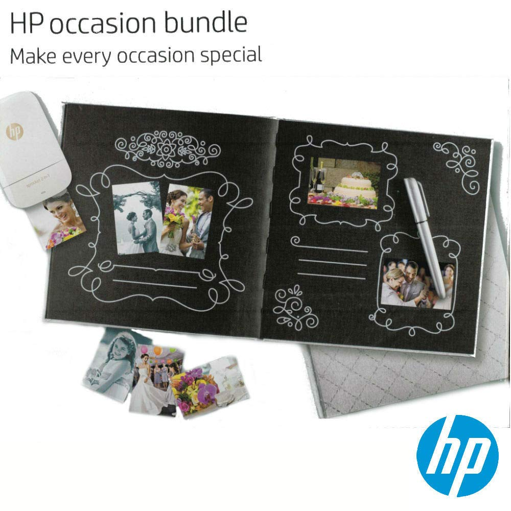 Metallic Silver Pen Included Silver//Black Special Occasions and Gift HP Official Hardcover Photo Album Photobook Scrap Book for Wedding