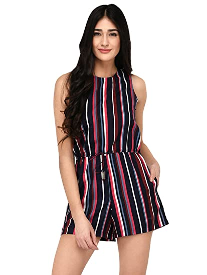 bc1fa74f5c Purys Women s Polyester Striped Jumpsuits (SS3004JPSSTRIPES-S