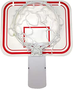 Silfrae Basketball Trash Can Game Wall Hanging Basketball Basket Fun Game for Office, Living Room and Bed Room (White Clip)
