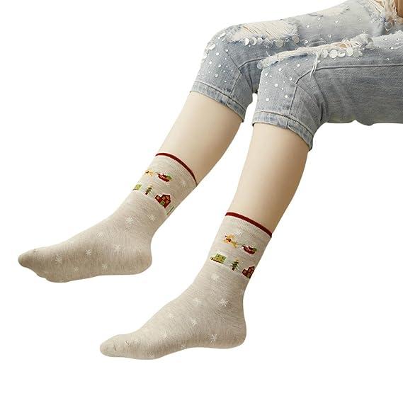 Calcetines Mujer Divertidos Invierno Antideslizantes Calcetines Ocasionales De Las Mujeres De La Navidad Calcetines Unisex Lindos (Beige): Amazon.es: Ropa y ...