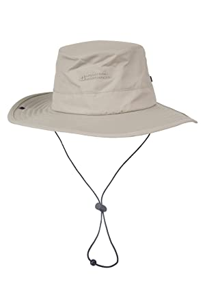 Mountain Warehouse Sombrero de ala ancha impermeable Explorer Beige Medium / Large