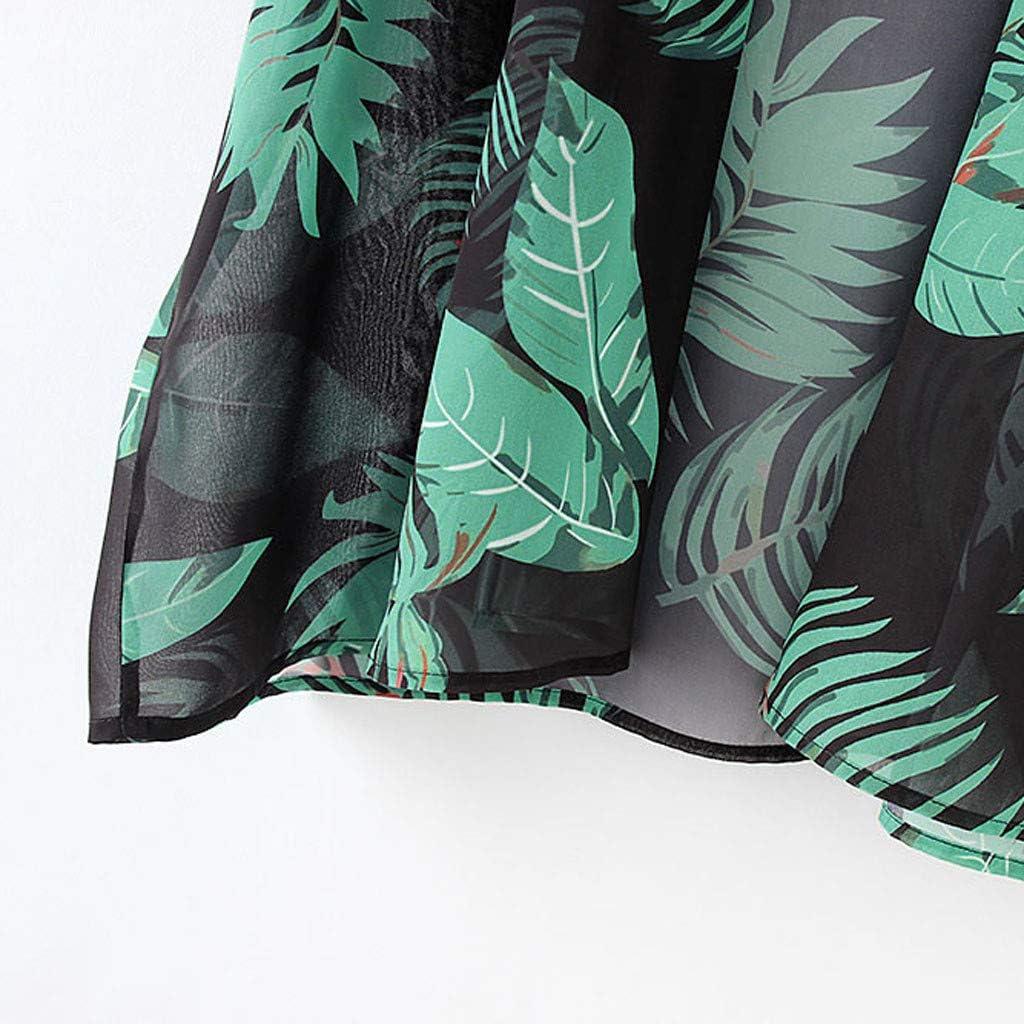 ◐OFEFAN◑ Womens Floral Print Sheer Loose Kimono Cardigan Capes