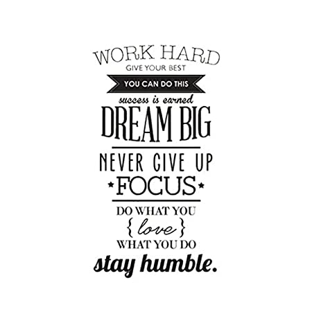 Wall Sticker Quotes Work Hard Give Your Best You Can Do This Success