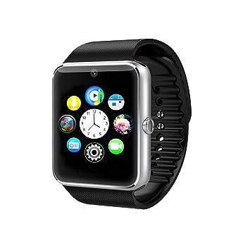 Time4Deals® GT08 Salud inteligentes NFC y Bluetooth Smart Watch pulsera con ranura para tarjeta SIM reloj Smartphone Android y IOS Apple Iphone - Plata: ...
