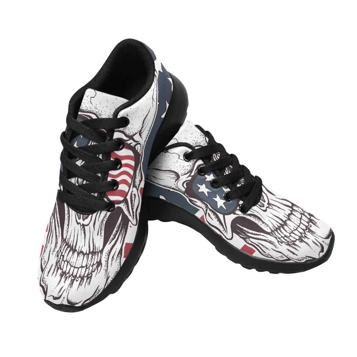 InterestPrint Women's Trail Running Shoes Cool Sugar Skull in Sunglasses US10