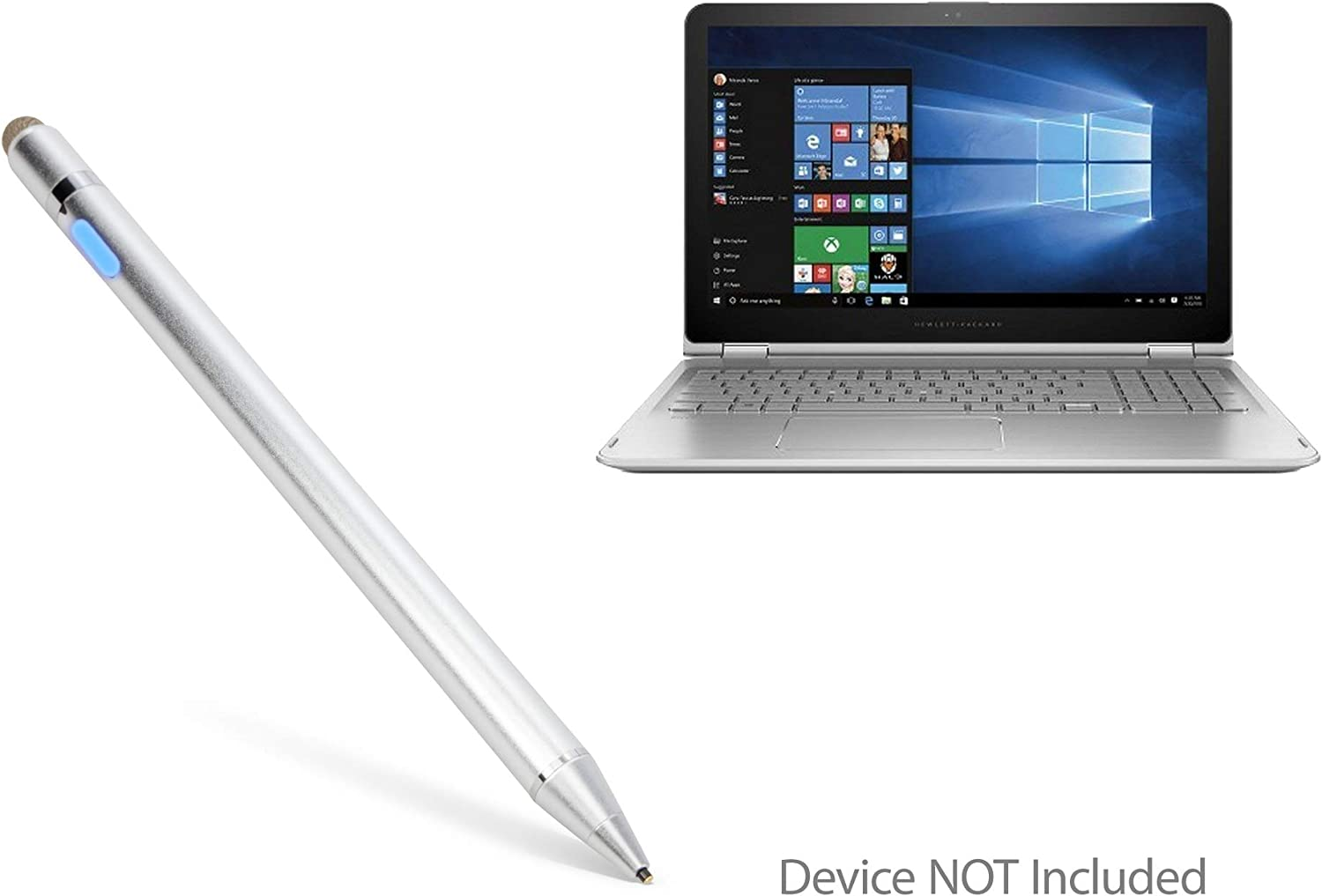 "HP Envy x360 Convertible 2-in-1 Laptop (15.6"") Stylus Pen, BoxWave [AccuPoint Active Stylus] Electronic Stylus with Ultra Fine Tip for HP Envy x360 Convertible 2-in-1 Laptop (15.6"") - Metallic Silver"