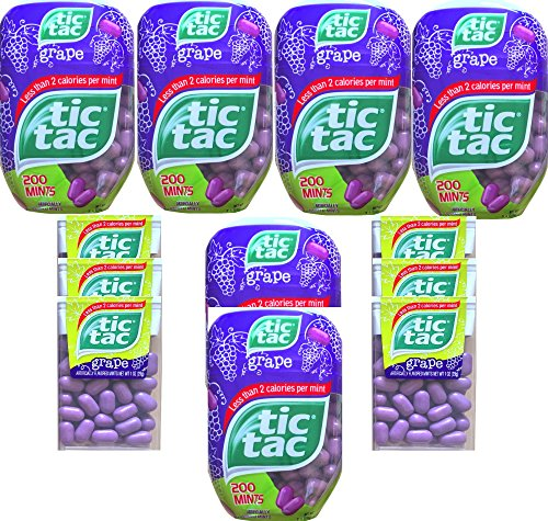 Tic Tacs Grape Flavored Mints Gift Set with Tic Tacs Classic Container Grape Flavored Less Than 2 Calories Per Mint (Set Of 12) (Tic Tacs Grape compare prices)