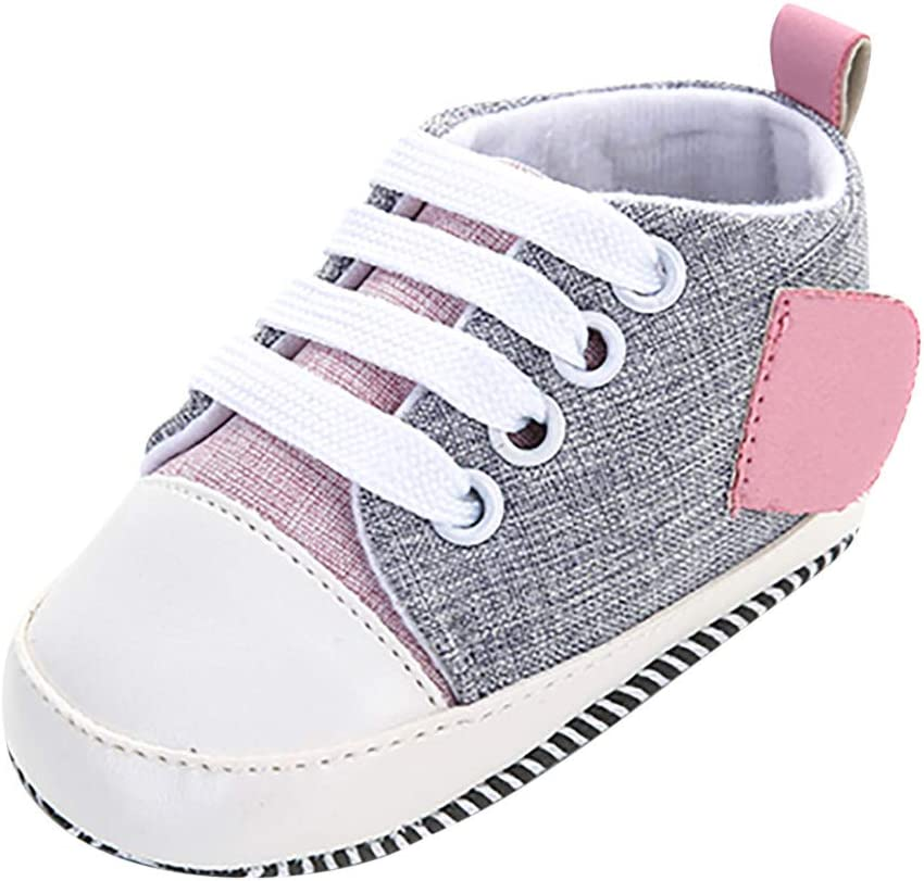 Non-Slip Boys Girls Rubber Sole Sneaker First Walkers Shoes Infant Casual Shoes Durable Color : Darkblue , Size : 4 M US Toddler