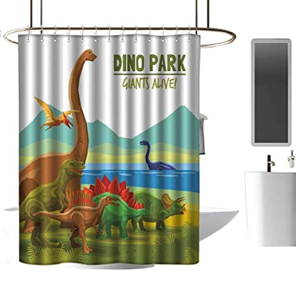 Amazon com: Wixuewu Dinosaur,Shower Curtains Texas,Flying