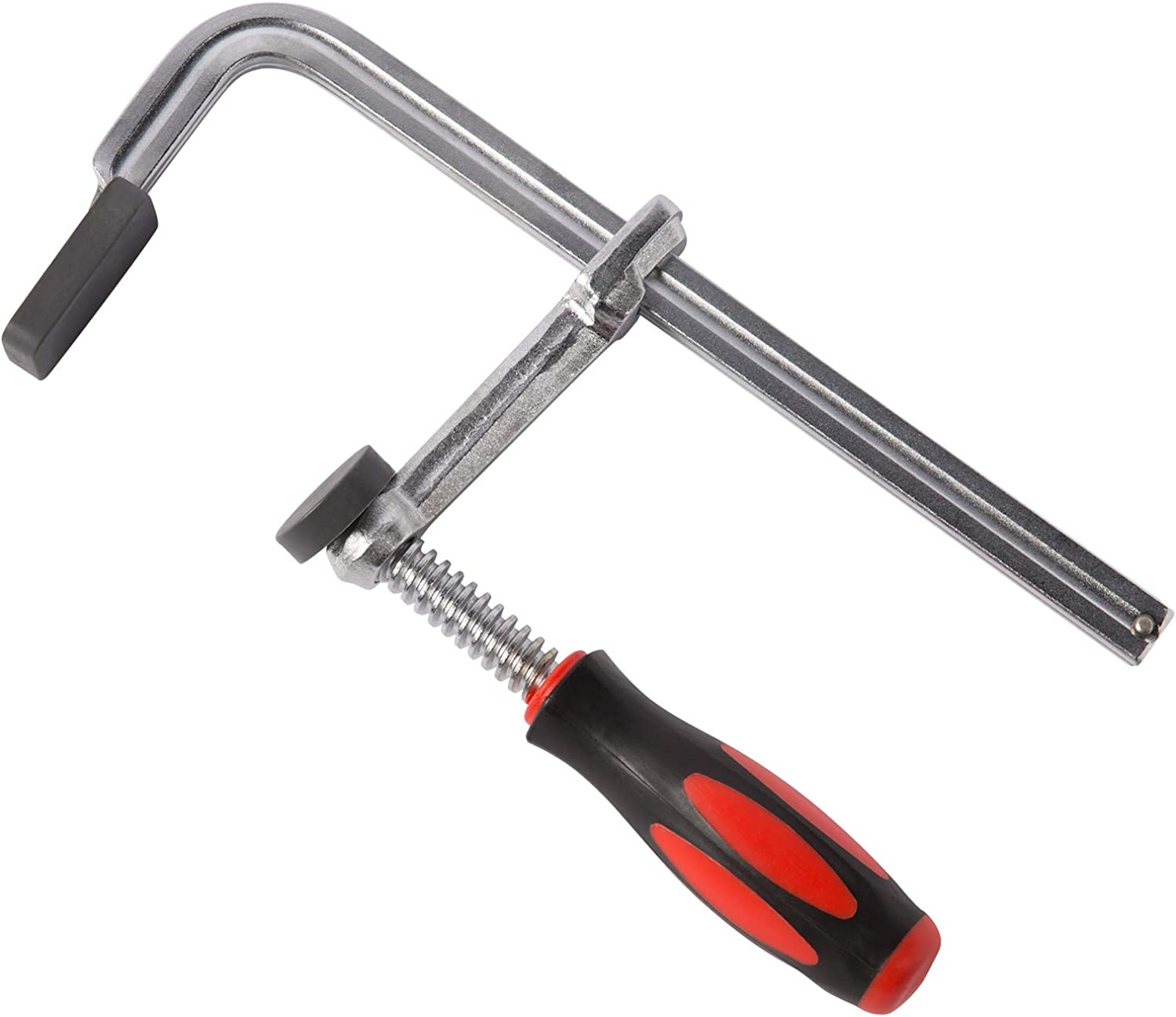 MAXPOWER 8 F-Clamp Medium Duty Heat Treated Steel Bar Clamp with Ergonomic Grip Handle and Protective Pads