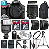 Holiday Saving Bundle for D3300 DSLR Camera + 18-55mm VR Lens + 0.43X Wide Angle Lens + 2.2x Telephoto Lens + Backup Battery + Flash + Tripod + UV Filter + 2 Of 16GB Class 10 - International Version
