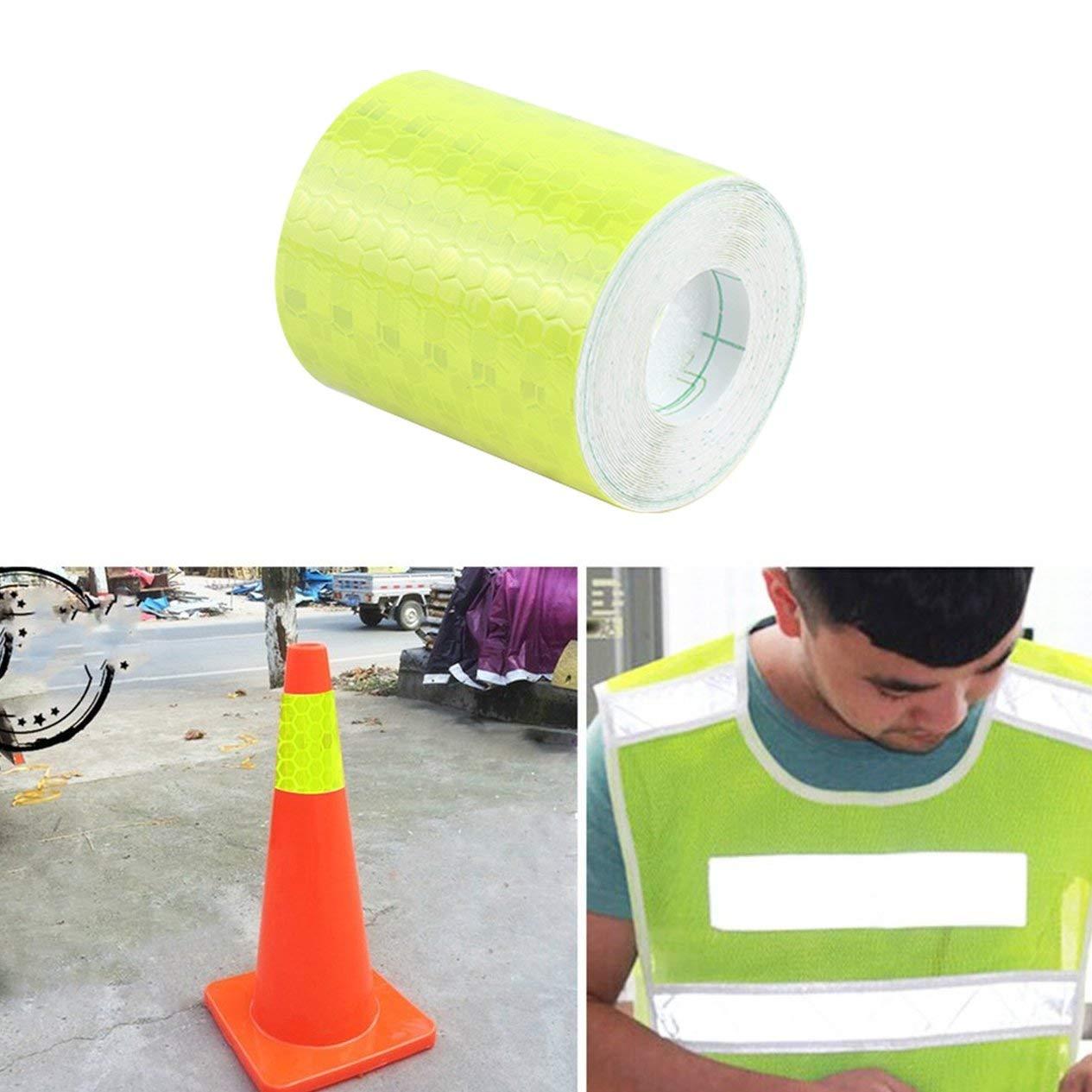 EdBerk74 Tiras Adhesivas s/úper Reflectantes Fluorescentes Cinta de Advertencia de Seguridad del autob/ús Escolar Pegatinas de Visibilidad del autom/óvil