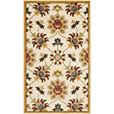 Safavieh Newbury Collection NWB8704-1220 Ivory and Gold Area Rug (3′ x 5′)