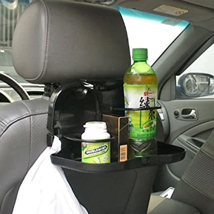 Pesp Folding Car Auto Back Seat Table Food Tray Drink Cup Holder Stand Desk