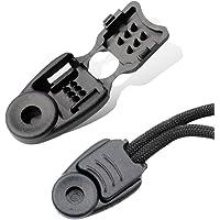 Premium Nylon Zipper Pulls Cord Rope End Paracord Zipper Pull Ends for Layyard,DIY Replacement Zipper Fixer (Black, 10…