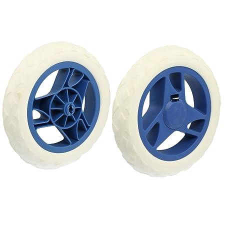 Amazon.com : a12082000ux0108 Forma de abanico Core Cochecito Carrito de la compra Cartwheels, Azul, Blanco, 2 piezas : Baby