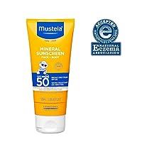 Mustela Baby Mineral Sunscreen SPF 50, Broad Spectrum UVA/UVB, for Sensitive Skin...