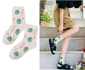 74d433617b516 Oyfel Chaussette Lot Flamingo Myrtille Banane Renard Couleur Original Fun  Fantaisie Fashion Style Art Fleur pour