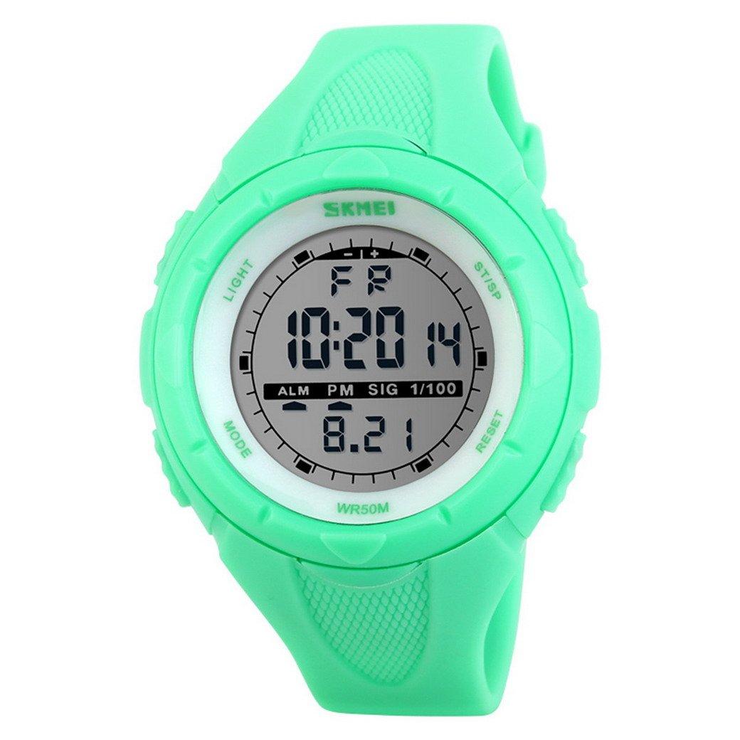 Happy Cherry Deportivo LED Reloj Digital de Cuarzo con Correa de Gaucho  Esfera Grande Multifunción Alarma Cronómetro Calendario Waterproof Wrist  Watch Para ... f8a27aa7987c