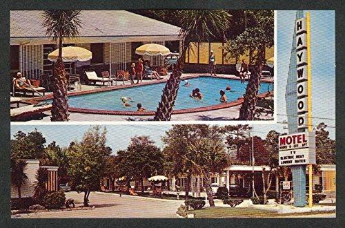 Haywood Motel Myrtle Beach SC postcard 1950s Max H - Haywood Sc