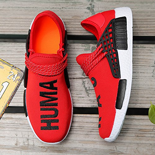 Breathable and Running Red VOESPO Shoes Summer Couple Women Men Lightweight AYqwH