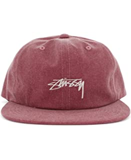 fc3556273e5 Stussy Mens Washed Oxford Canvas Hat