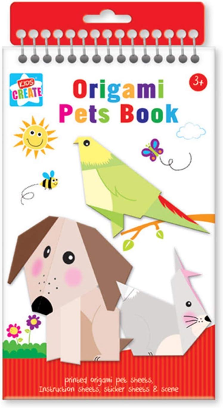 Anker niños Crear Manualidades Pet Libro de Origami, plástico, Colores Variados