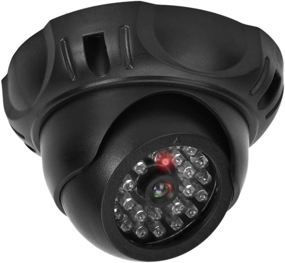 Dummy Fake Security Monitor Camera with LED Light Biunixin Dome Simulation Camera
