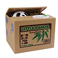 Eshowy Tirelire en forme de boîte renfermant un mignon panda