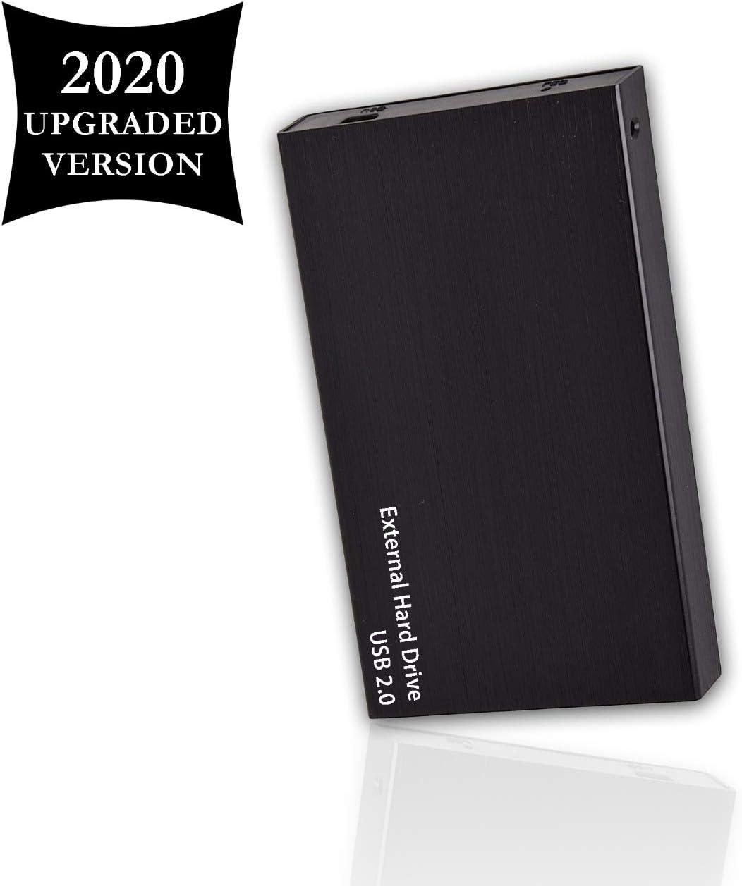"Portable External Hard Drive, USB 2.0, 2.5"" Slim External Hard Drive Plug and Play Hardrive for Storage, Backup for Computer, MAC, Desktop, Laptop, MacBook, Chromebeook (200GB, Black)"