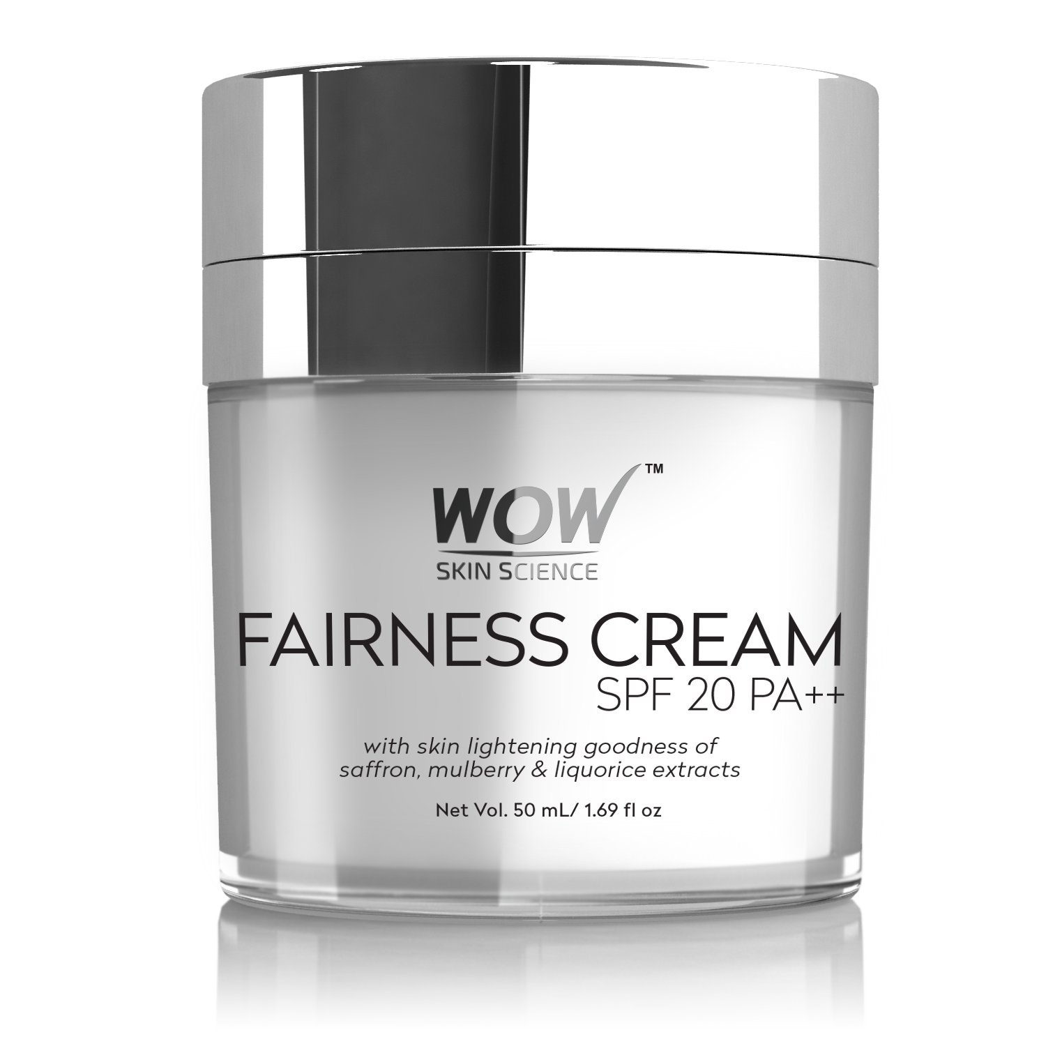 WOW Fairness SPF 20 PA++ Mineral Oil Cream, 50ml