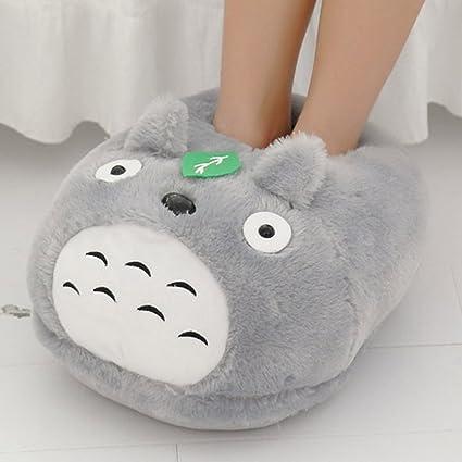 db1e302d4cba Follow918 Cute Cartoon My Neighbor Totoro Big Size Plush Warming Feet  Slippers