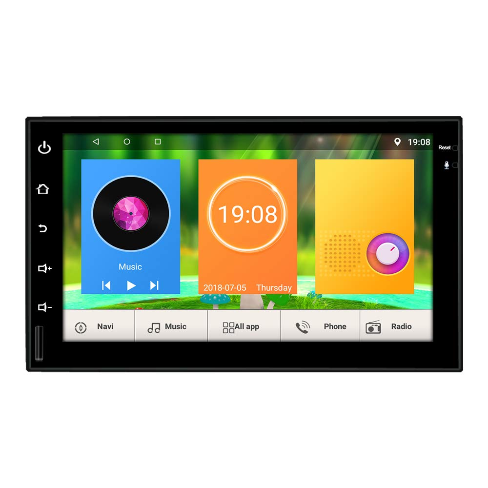Upgraded Universal Double din Android 7.1 Quad Core CPU 2G RAM 32G Rom 7 Inch Touch Screen Car Stereo GPS Navigation Audio System WIFI In Dash Radio Headunit With Free Rear Camera And Car Tuning Tools