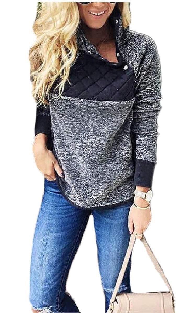 Xswsy XG Womens Casual Asymmetrical Neck Fleece Pullover Tops Sweater