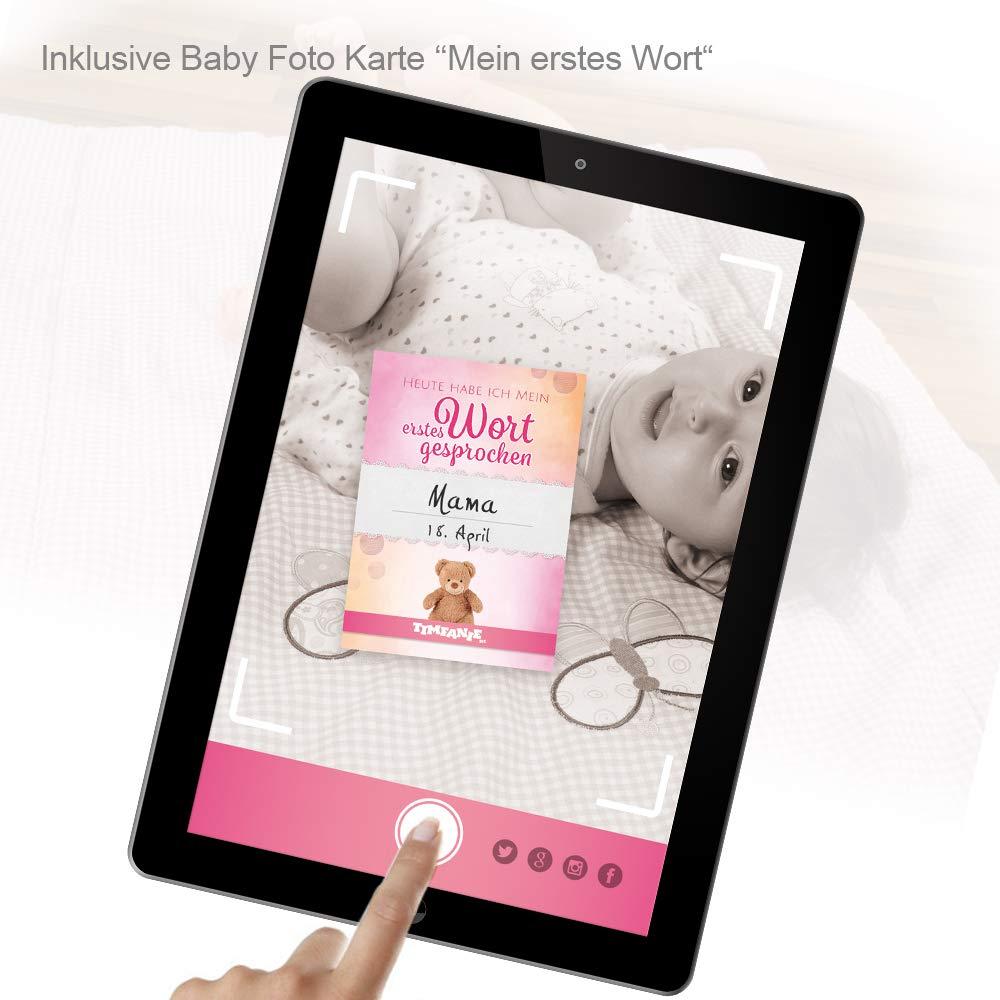 ohne Gravur Ziehente 3 Timfanie/® Windeltorte zart-rosa Windeln Gr 2-st/öckig