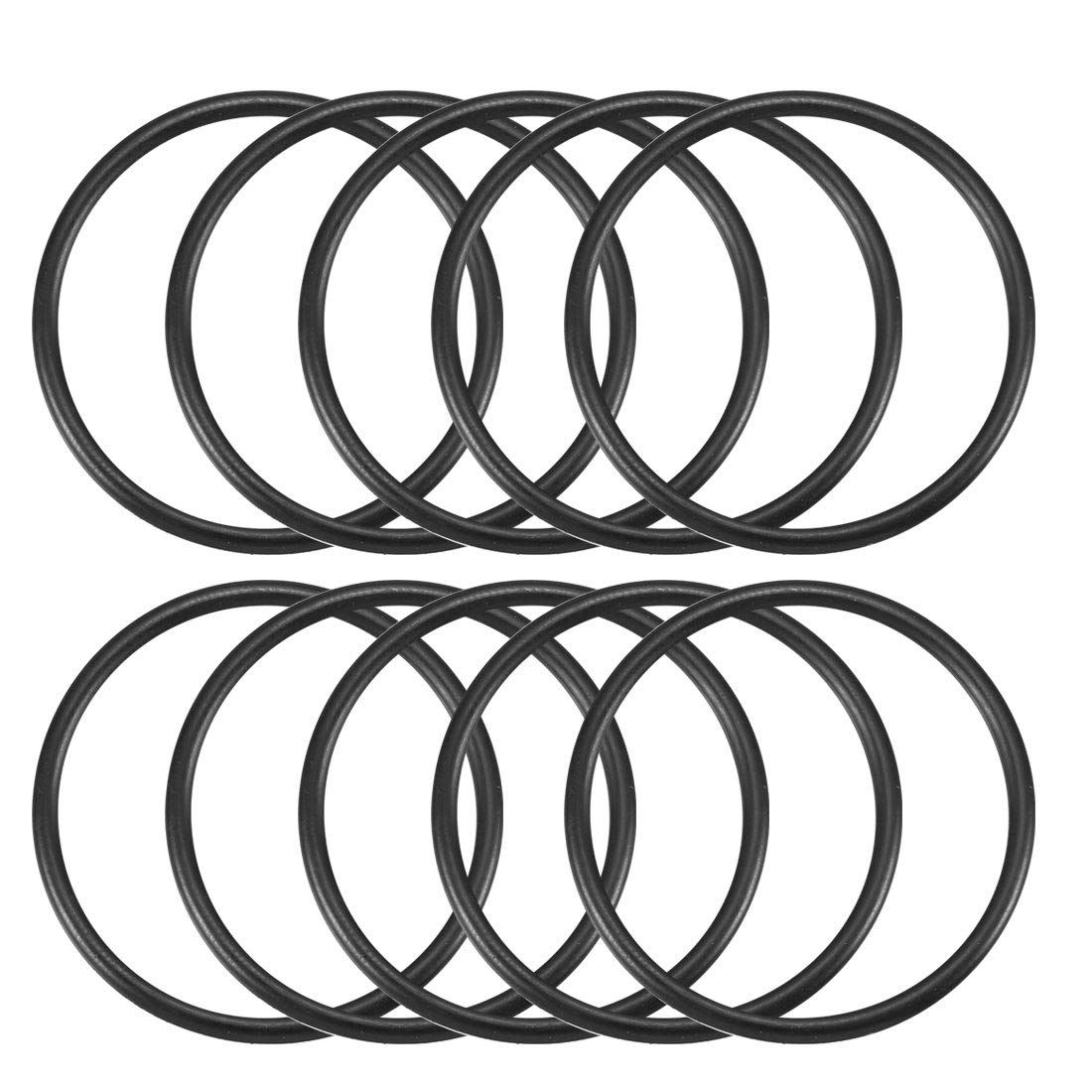 uxcell Nitrile Rubber O-Rings 24mm OD 20mm ID 2mm Width Metric Buna-N Sealing Gasket Pack of 30