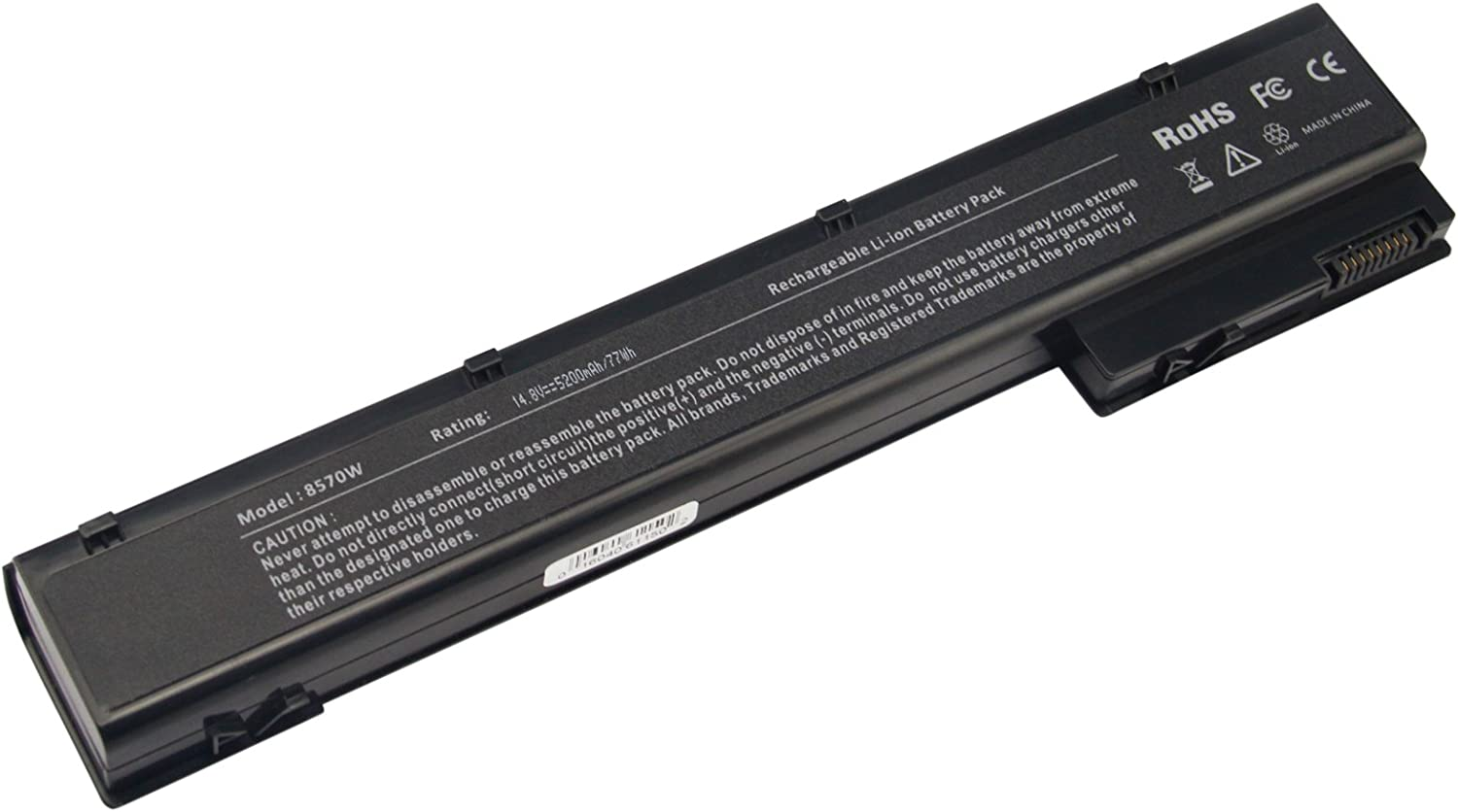 AC Doctor INC Laptop Battery for HP EliteBook 8560w 8570w 8760w 8770w Mobile Workstation, 5200mAh/14.8V/6-Cells