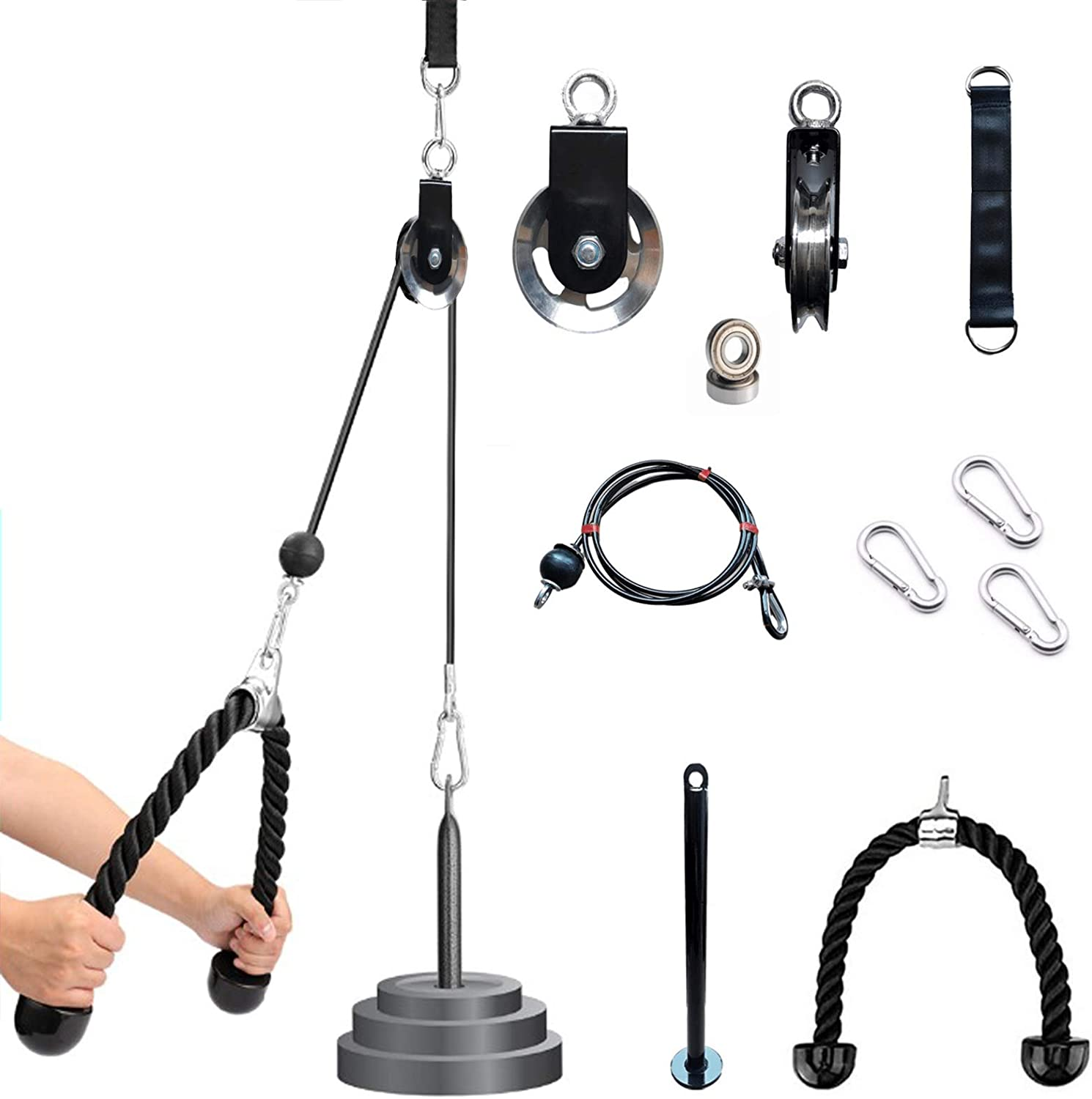 colllco Pulley Cable System Lifting Triceps Rope Fitness DIY Loading Machine Workout LAT Pulldown Home Gym Sport Accessories