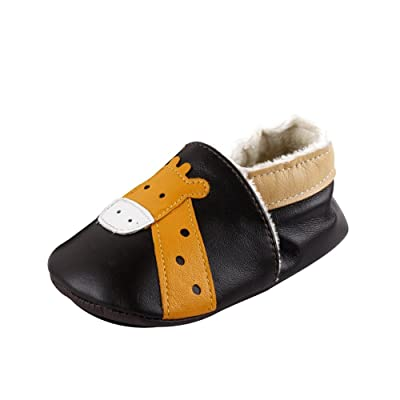 LSERVER Baby Boys Girls 0-2Yrs Months Toddlers Soft Sole Leather Infant Shoes Crib Shoes Baby
