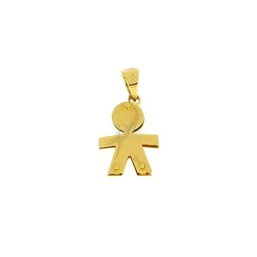 negozio online codici promozionali famoso marchio di stilisti Donipreziosi Ciondolo in Oro Giallo a Forma di Bimbo (Medio ...