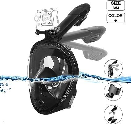 Voll Schnorchelmaske Tauchenmaske Taucherbrille Vollgesichtsmaske Tauchmask 180°