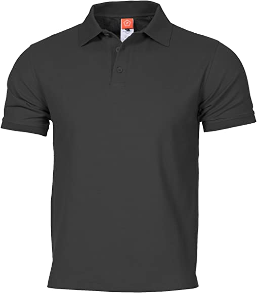 Pentagon Hombres Aniketos Polo T-Shirt Negro Tamano L: Amazon.es ...