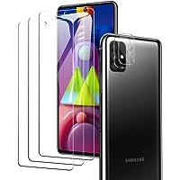A-VIDET szkło pancerne do Samsung Galaxy M51 (3 sztuki) + szkło pancerne na aparat (2 sztuki), twardość 9H, bez…