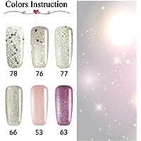 Coscelia Esmaltes en Gel de Semi- Perminente Manicura Brillo Kits (#8)