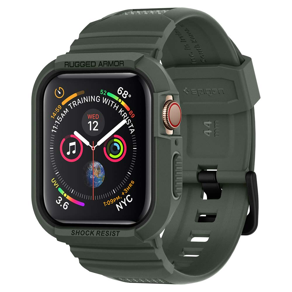 Spigen Rugged Armor Pro Designed for Apple Watch Case for 44mm Series 4 (2018) - Military Green