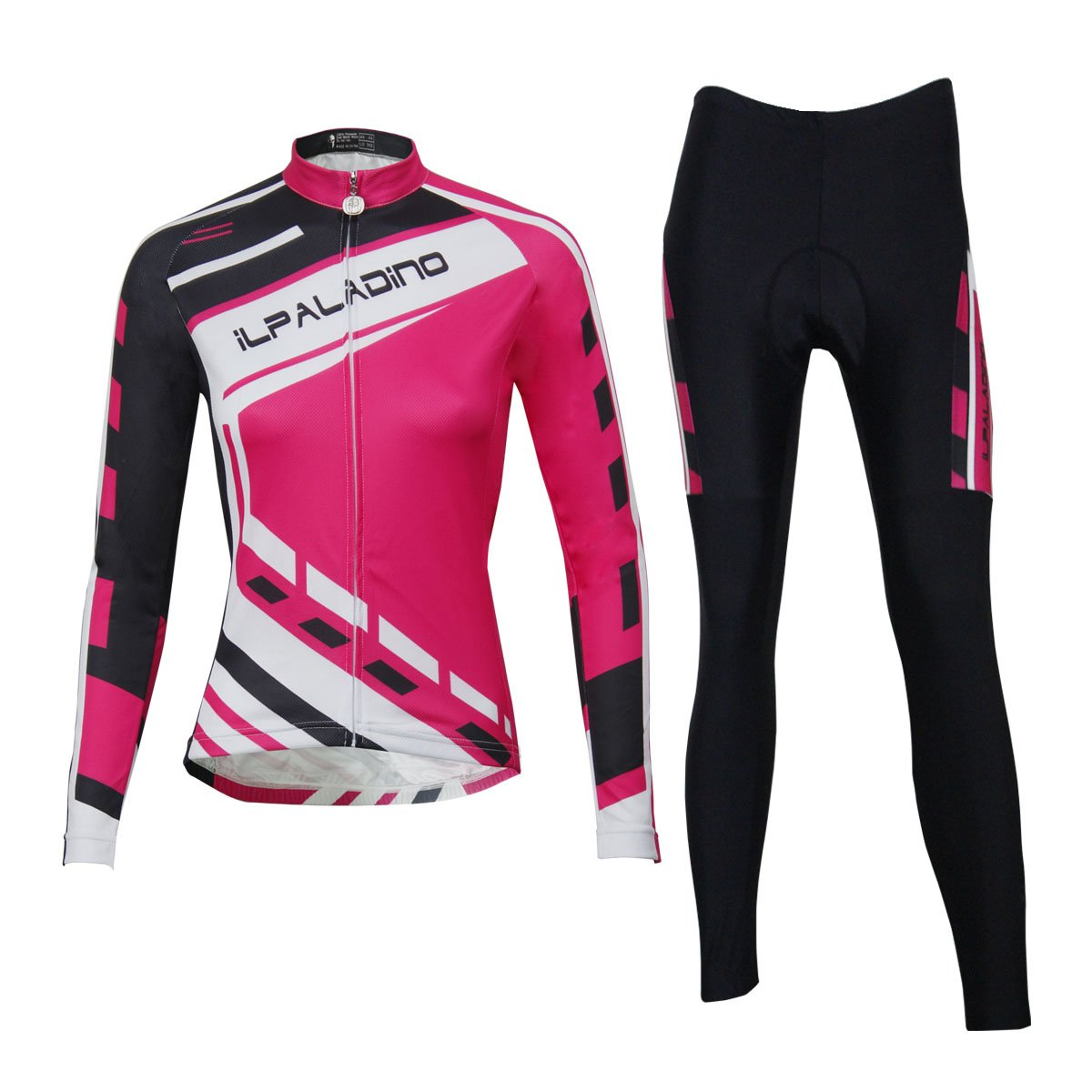 Amazon.com  ILPALADINO Women s Cycling Jersey Clothing Set Long Sleeve  Quick Dry Breathable  Clothing 8b15e1dc7