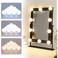 Elegear Hollywood Spiegelverlichting met 3 kleurmodi, led-make-upspiegellampen, 10 niveaus, helderheid, USB-make…