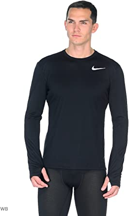Nike 885292-010 Camiseta Manga Larga, Hombre, Negro, XL: Amazon.es ...