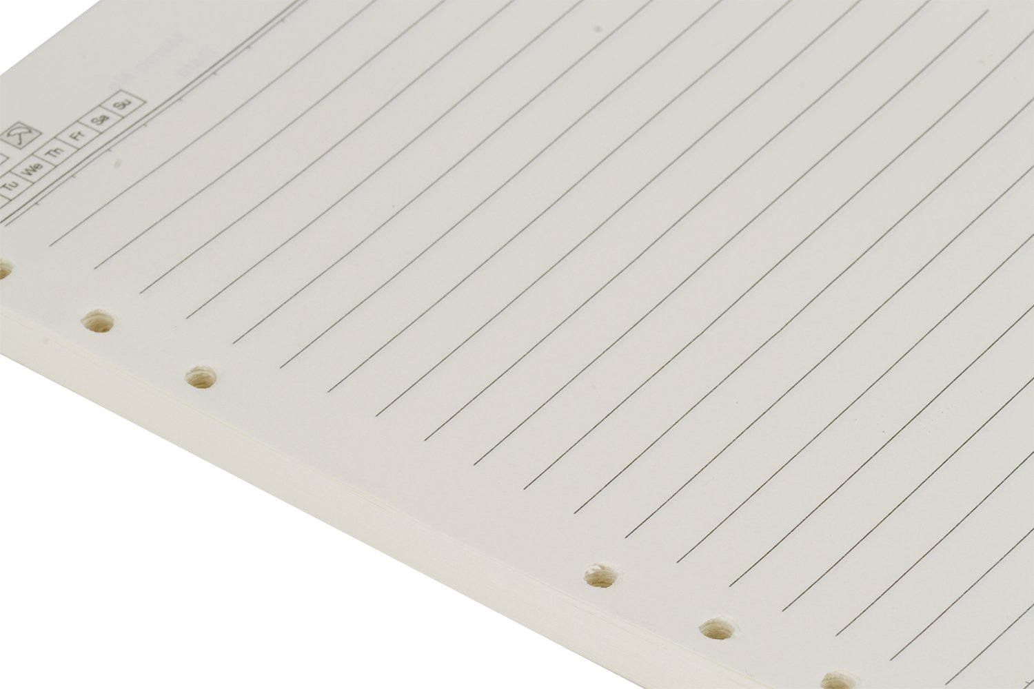 A5 Refill Paper 6 Hole Punched Filler Paper Refills for A5 Loose Leaf Notebook Travel Journal Personal Diary Planner Binder, 100 Sheet/200 Page, Lined Paper, 5.6'' x 8.2'' by Starsouce (Image #3)